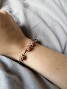 bijoux bracelet grosses perles marron : Bracelet bambou