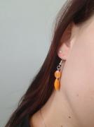 bijoux boucles doreilles orange bijoux : Boucles d'oreilles oranges