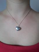 bijoux bijoux collier coeur argente : Collier cœur argenté