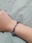 bijoux argentee bijou marron bleu : Bracelet bleu et marron