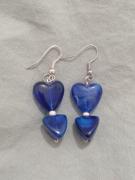 bijoux boucles doreilles bleu coeur bijoux : Boucles d'oreilles cœurs bleues