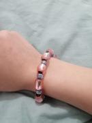 bijoux bijoux rose violet argentee : Bracelet rose et violet
