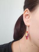 bijoux rouge boucles doreilles bijoux : Boucles d'oreilles rouges (petites)
