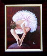 tableau personnages artiste toile huile peinture : Danseuse