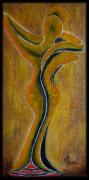 tableau personnages artiete huile toile peinture : Couple danseur