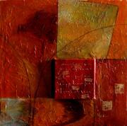 tableau abstrait huile toile painture artiste : Mémoire