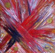 tableau abstrait huile toile peinture artiste : Mes Saisons
