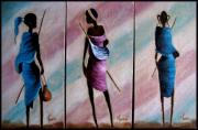 tableau personnages aertiste toile peinture huile : Séduction