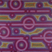 tableau abstrait pointillisme violet : Limonade du Protocole