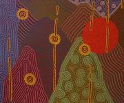 tableau abstrait pointillisme : La Voie Haute