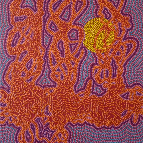 TABLEAU PEINTURE pointillisme Abstrait Acrylique  - Priorité à la Source
