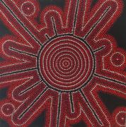 tableau abstrait pointillisme rouge : Alors Minimum