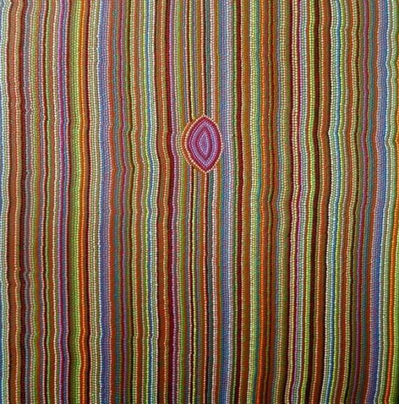 TABLEAU PEINTURE pointillisme Abstrait Acrylique  - Accords de Musette