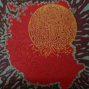tableau abstrait pointillisme : Couvre-Feu