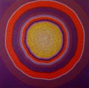 tableau abstrait pointillisme : L'Univers nous Expérimente