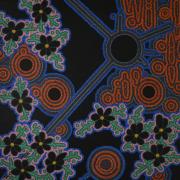 tableau abstrait pointillisme fleurs : Folie Méricourt