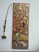 artisanat dart scene de genre marquepage cuir peinture sur cuir reproduction de tableau : reproduction tableau arbre de vie