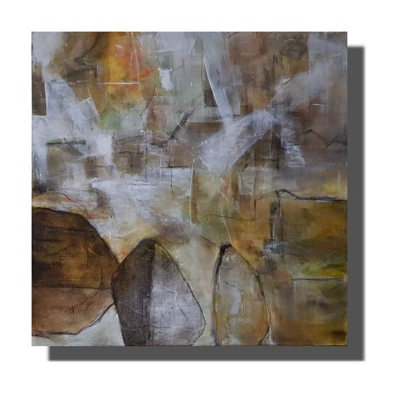 TABLEAU PEINTURE Oeuvre unique Tableau abstrait Tableau peint à la main Rachel Masnaghetti Abstrait Acrylique  - 14.04.2021