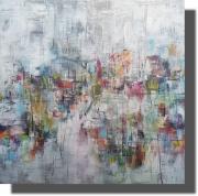 tableau abstrait oeuvre unique tableau abstrait tableau peint ,a la main rachel masnaghetti : 26.02.2020