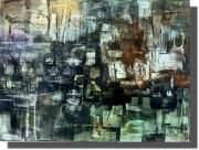 tableau abstrait oeuvre unique tableau abstrait tableau peint ,a la main rachel masnaghetti : 24.05.2020