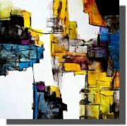 tableau abstrait oeuvre unique tableau abstrait tableau peint ,a la main rachel masnaghetti : 18.02.2021
