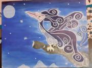 tableau animaux : L'oiseau de la Lune