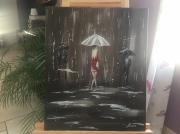tableau personnages : Une femme sous la pluie