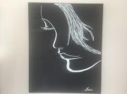 tableau personnages : Visage de femme