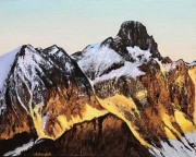 tableau paysages piz bernina swiss alps mountains bernina range : Piz Bernina-Swiss Alps
