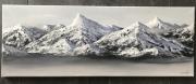 tableau paysages montagnes white peaks winter chaine des montagnes : La chaîne des montagnes