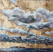 tableau paysages laque sur bois : S'ELEVER