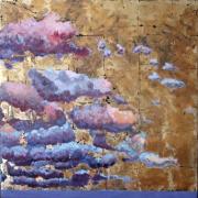 tableau paysages laque sur bois : ENTRE MER ET CIEL