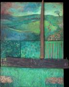 tableau paysages laque sur bois : VA TON CHEMIN SANS PLUS T'INQUIETER