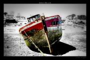 photo marine iroise mer lanildut : vieille coque