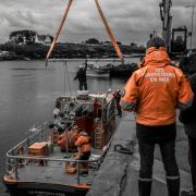 photo marine snsm portsall finistere mer : carénage de la portsallaise 04