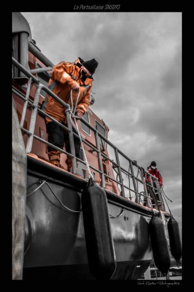 PHOTO SNSM portsall Finistère Marine  - carénage de la portsallaise 02