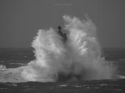 photo marine : Le phare du Four dans la tempête 02