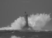 photo marine porspoder phare du four iroise mer : le phare du Four dans la tempête 01