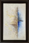 tableau abstrait abstrait beige bleu tableau : Séparation
