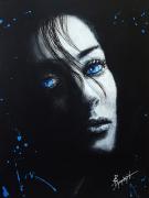 tableau personnages femmes noir yeux bleu : La mèche