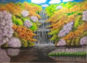 tableau paysages : Cascade féerique