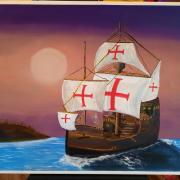 tableau marine : Santa Maria