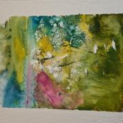 tableau paysages nature printemps palette de verts : Symphonie du Printemps