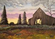 tableau paysages grange : Old Barn