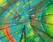 tableau abstrait : Bienvenue dans l'espace