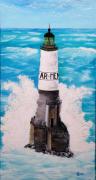 tableau marine phare mer bretagne : Ar Men