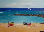 "tableau marine mer nature marin plage : Alizée ""promenade sur le littoral"""