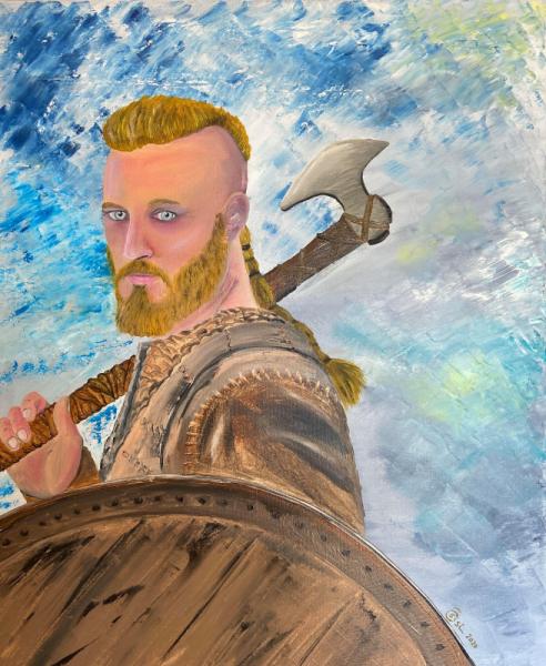 TABLEAU PEINTURE viking ragnar Personnages Peinture a l'huile  - Viking