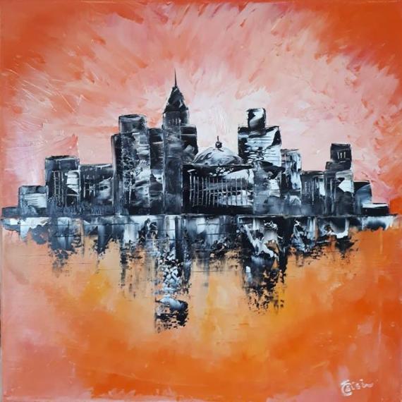 TABLEAU PEINTURE Manhattan Villes Peinture a l'huile  - Manhattan