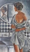 tableau personnages femme personnage divers : Le miroir